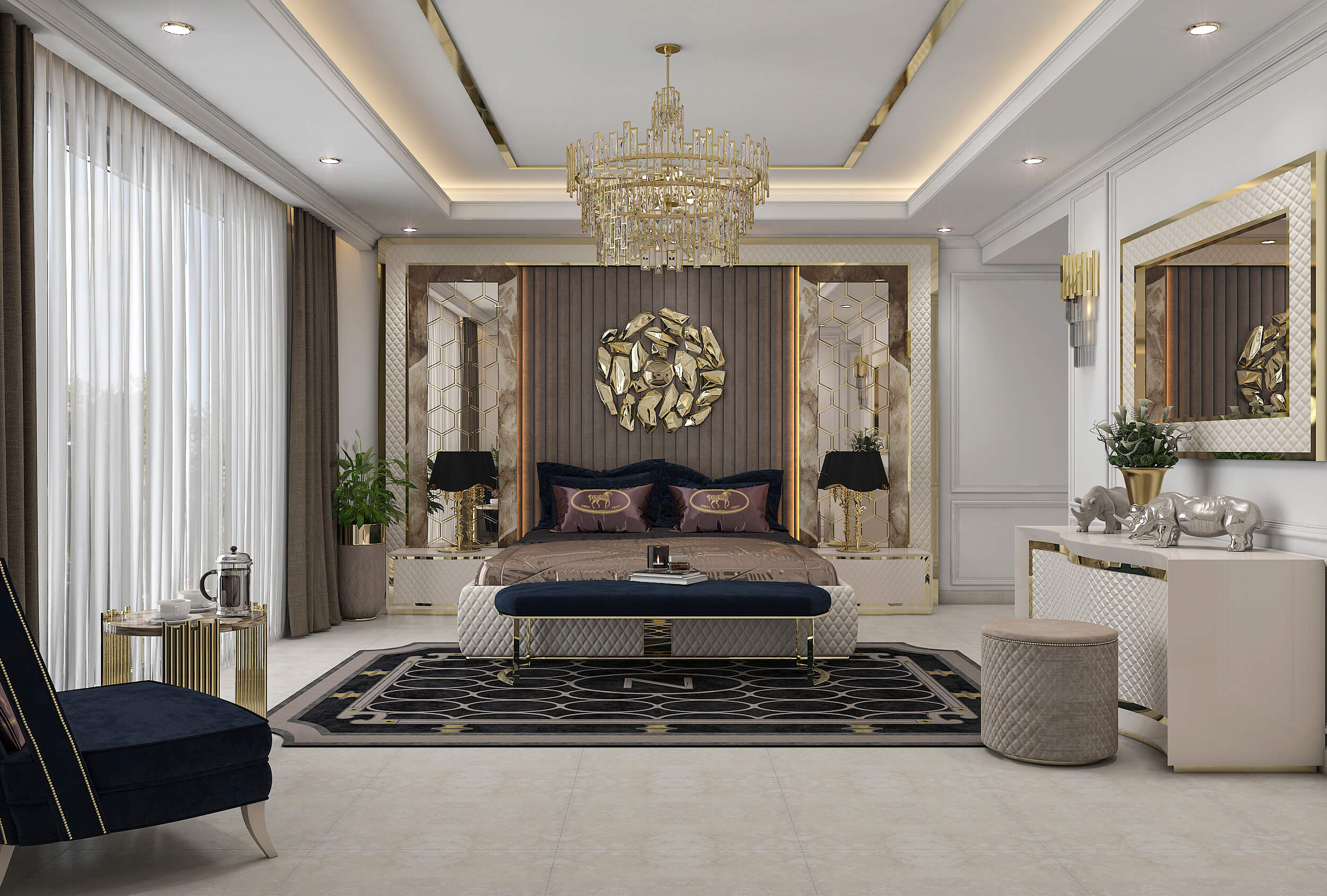 Neo Classical Bed Room