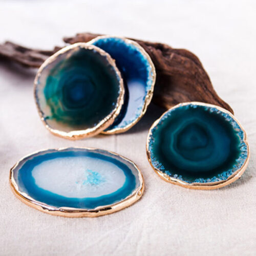 Sea Blue Agate Stone Coaster