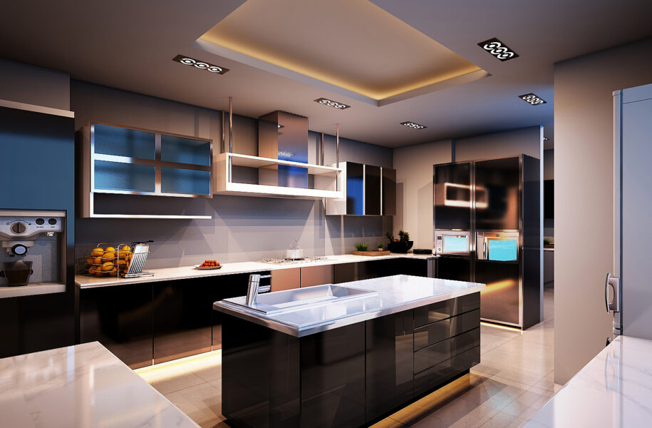 Modern Functional Kitchen Drawings