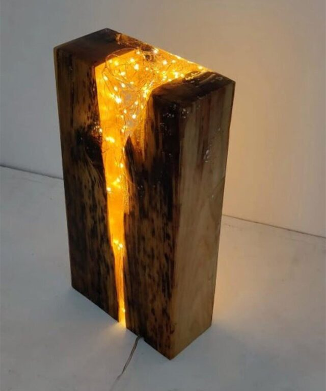 resin table lamp for export