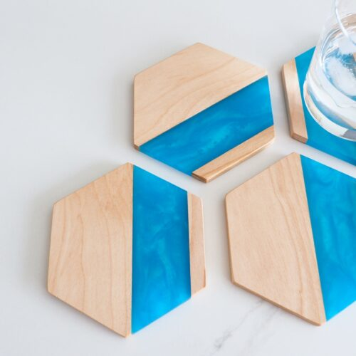 Best Quality Online Resin Wooden Coaster