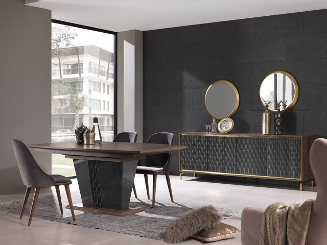 Gold Dining Room By Nills Luxury Furniture