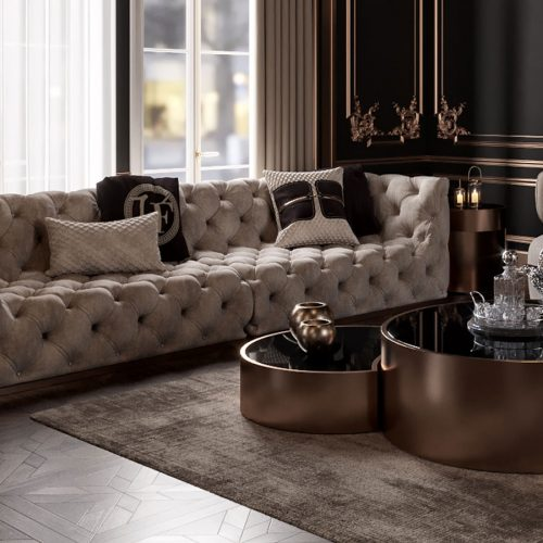Hecuba Living Room By Zebrano Luxury Furniture