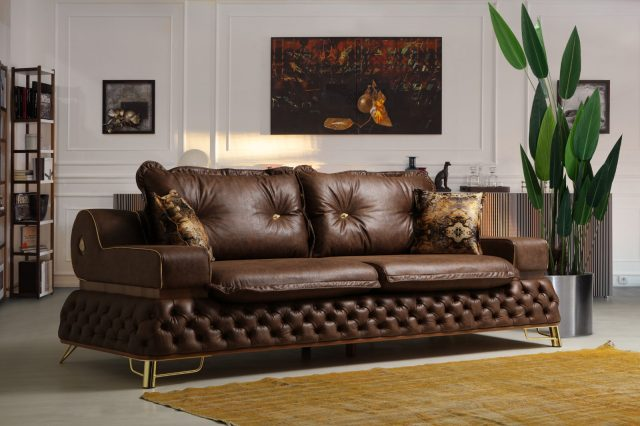 Hilton Sofa By Pianno Luxury Furniture Front View