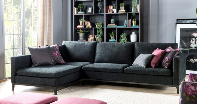 Metropol Corner Sofa By Saloni Luxury Furniture