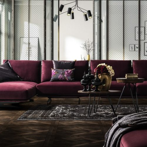 Pera Corner Sofa By Saloni Luxury Furniture