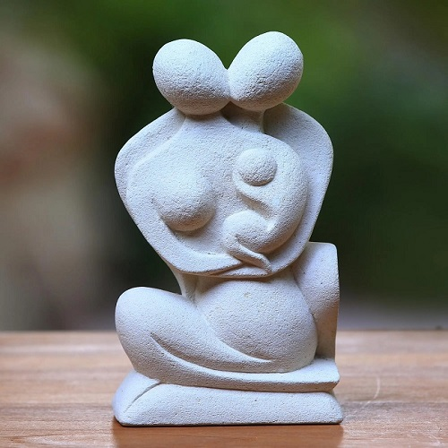 Handcrafted Stone Sculpture of Family