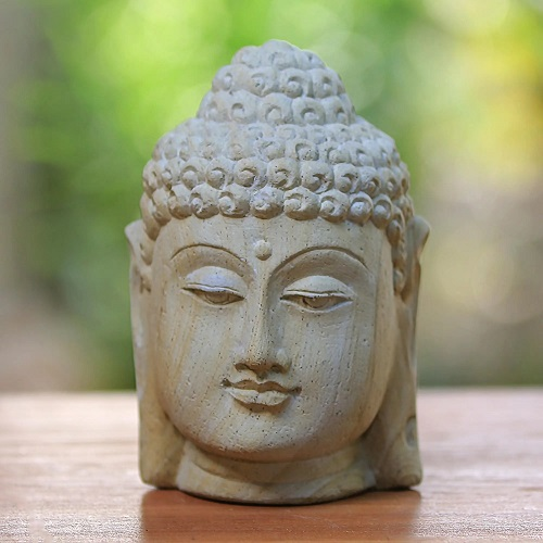Handcrafted Stone Sculpture of Buddha