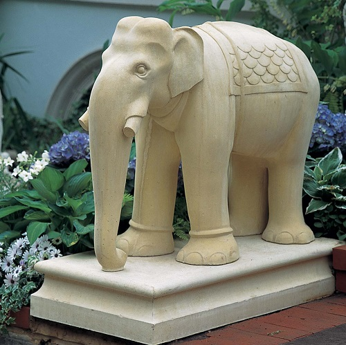 Hand Crafted Sandstone Sculpture of Elephant