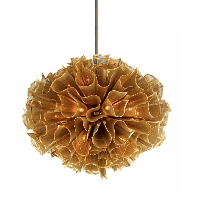 Sputnik Chandelier Gold Leaf Indoor Lighting Chandeliers