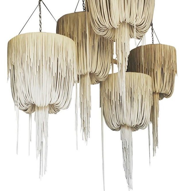 Urchin Leather Chandelier