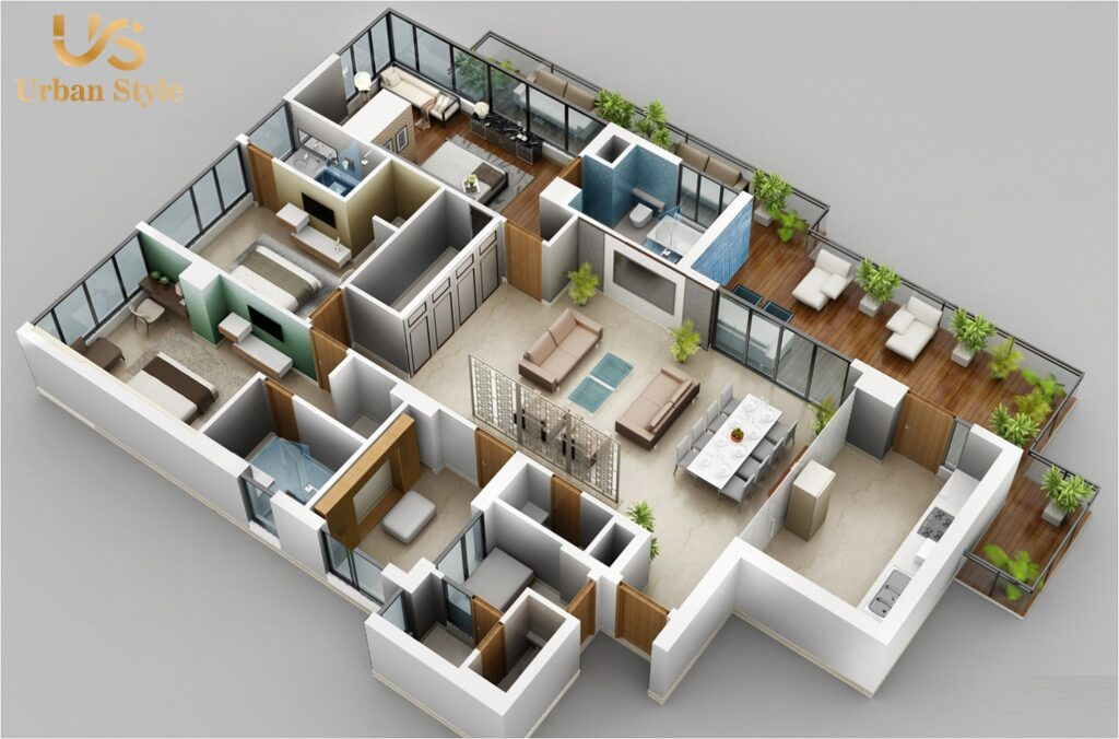 M3M Golf Estate Isometric View